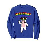 Lgbt Cow Gay Pride Rainbow Lgbtq Cute T-shirt Sweatshirt Royal Blue