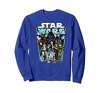 S Classic Comic Art Group Shot Darth Vader Shirts Sweatshirt Royal Blue