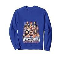 Wrestlemania Group Wwe T-shirt Sweatshirt Royal Blue
