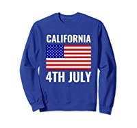 California Independence Day 4th July American Us Flag Gift Shirts Sweatshirt Royal Blue