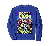 Doctor Strange Mystic Arts Neon Graphic Shirts Sweatshirt Royal Blue