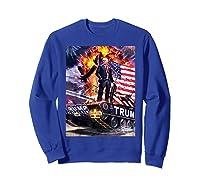 Donald Trump Gold Plated Shirt T-shirt Sweatshirt Royal Blue