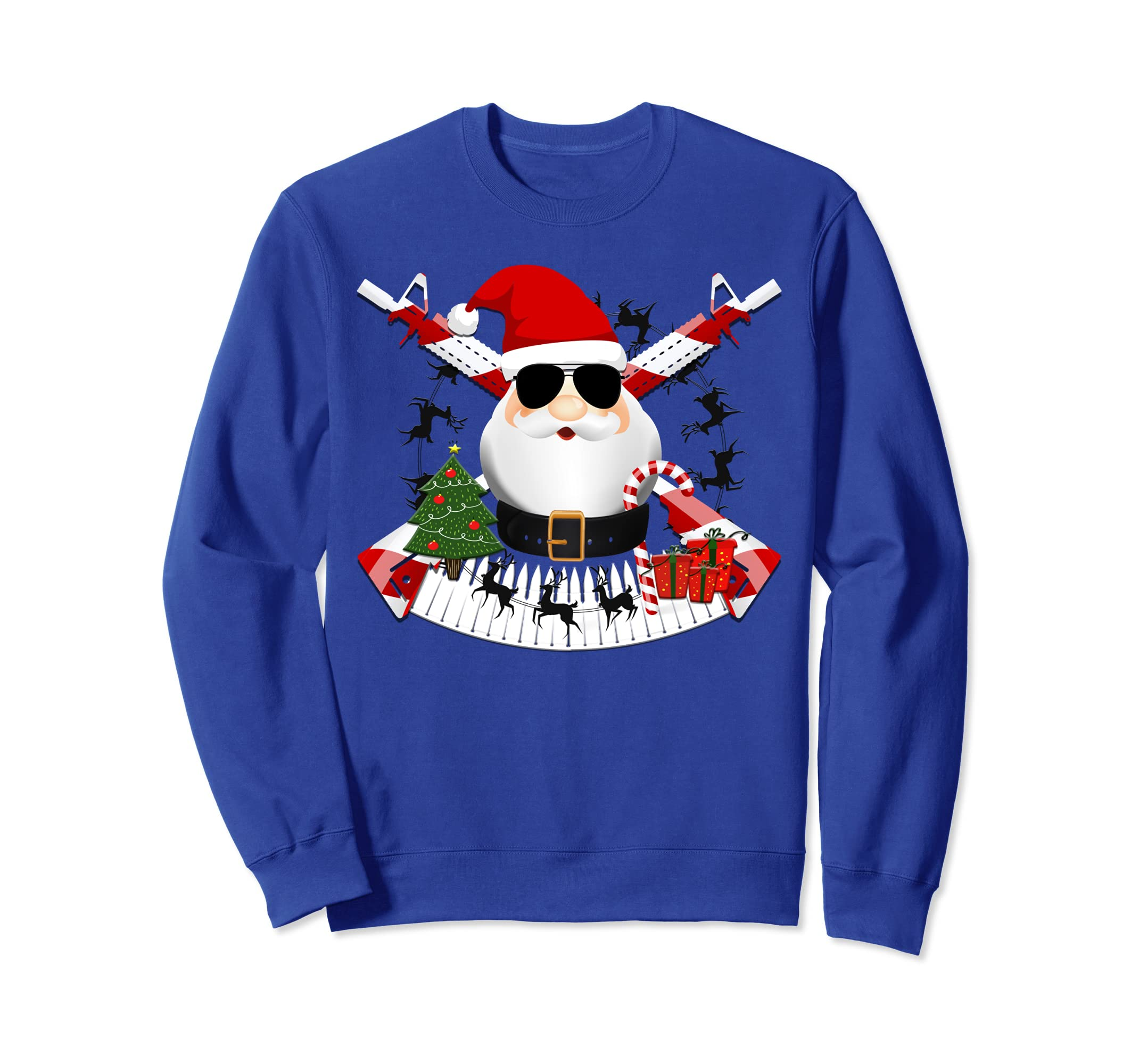 cabe7034 Amazon.com: Funny AR-15 Santa Military Christmas Sweatshirt: Clothing