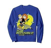 Disney Kim Possible T Shirt Sweatshirt Royal Blue
