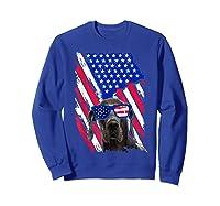 Vintage Great Dane Dog American Usa Flag Distressed Shirts Sweatshirt Royal Blue