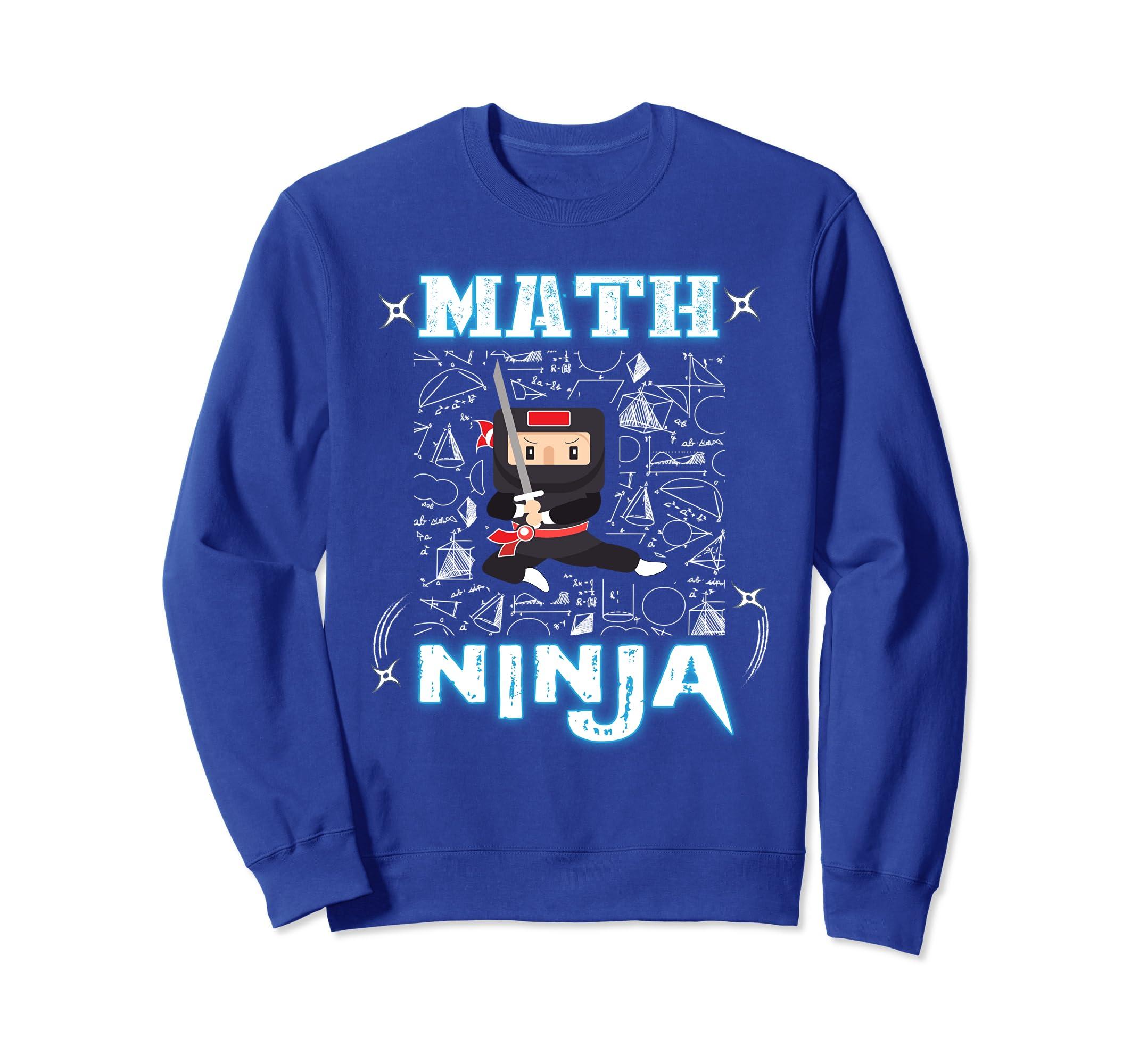 Amazon.com: Real Math Ninja - Cool Maths Sweatshirt for Kids ...
