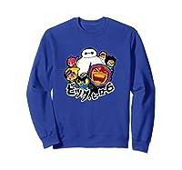 Disney Big Hero 6 Team Of Superheroes Chibi T-shirt Sweatshirt Royal Blue