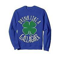 Gllgher St Patrick's Day Beer Irish Shirts Sweatshirt Royal Blue