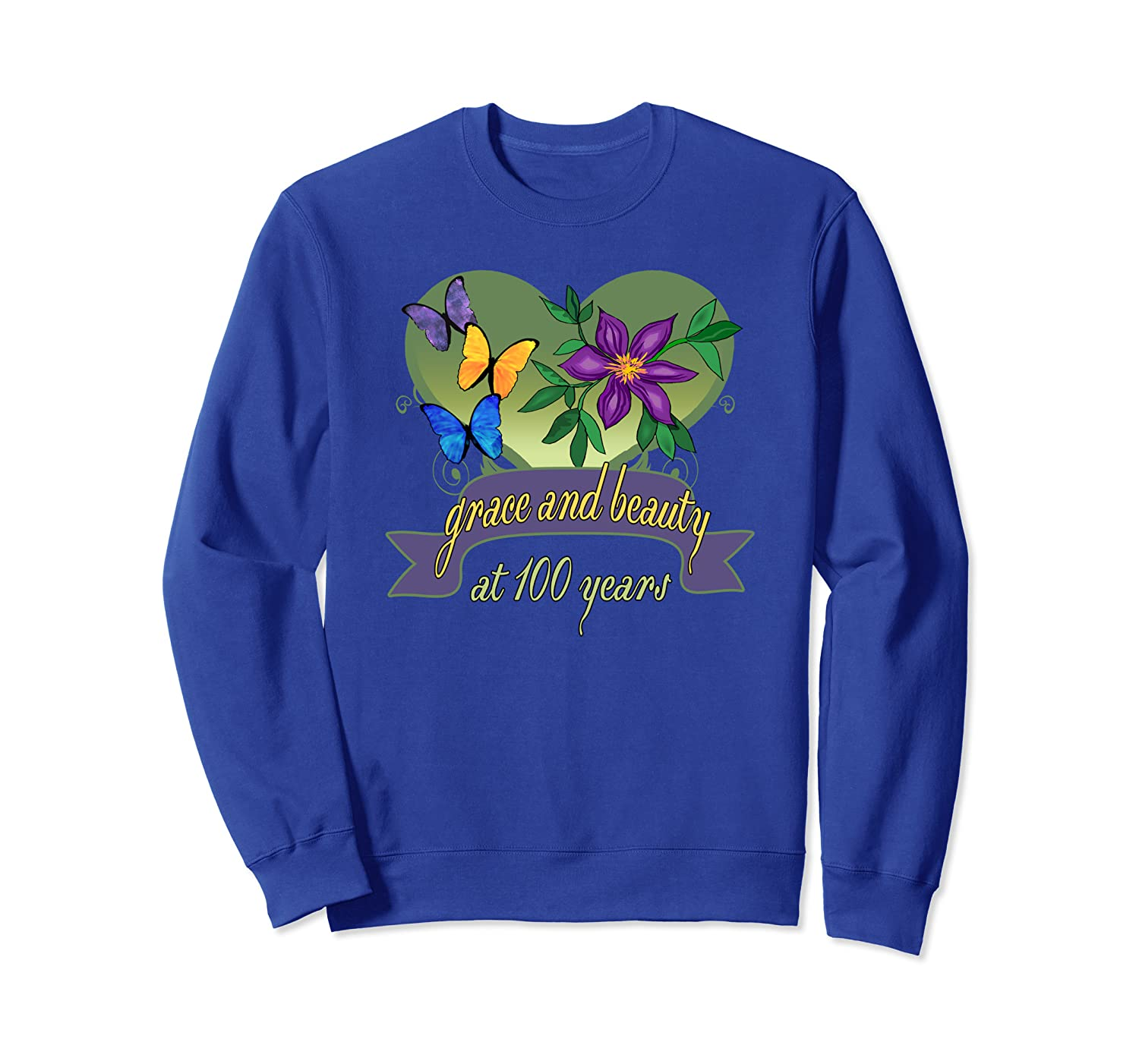 100th Birthday Grace and Beauty Shirt - 100th Birthday Gifts Sweatshirt-ANZ