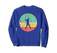 Baseball - Vintage Retro Baseball Player Shirts Sweatshirt Royal Blue