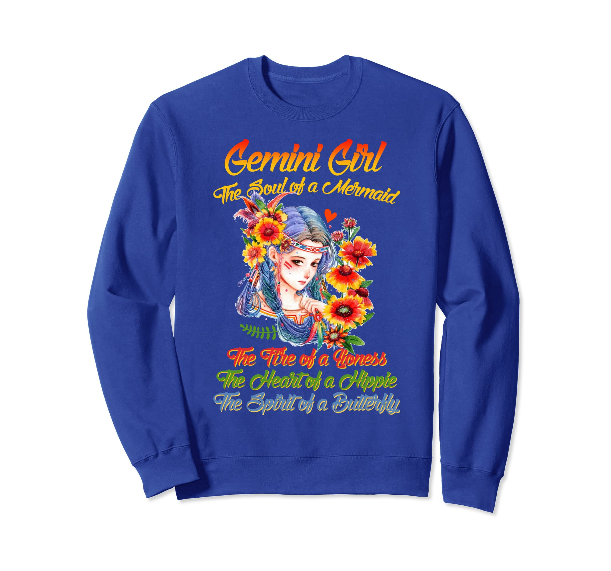 c511ab3722822a Amazon.com: Gemini Birthday Girl sweatshirt The Soul Of A Mermaid: Clothing