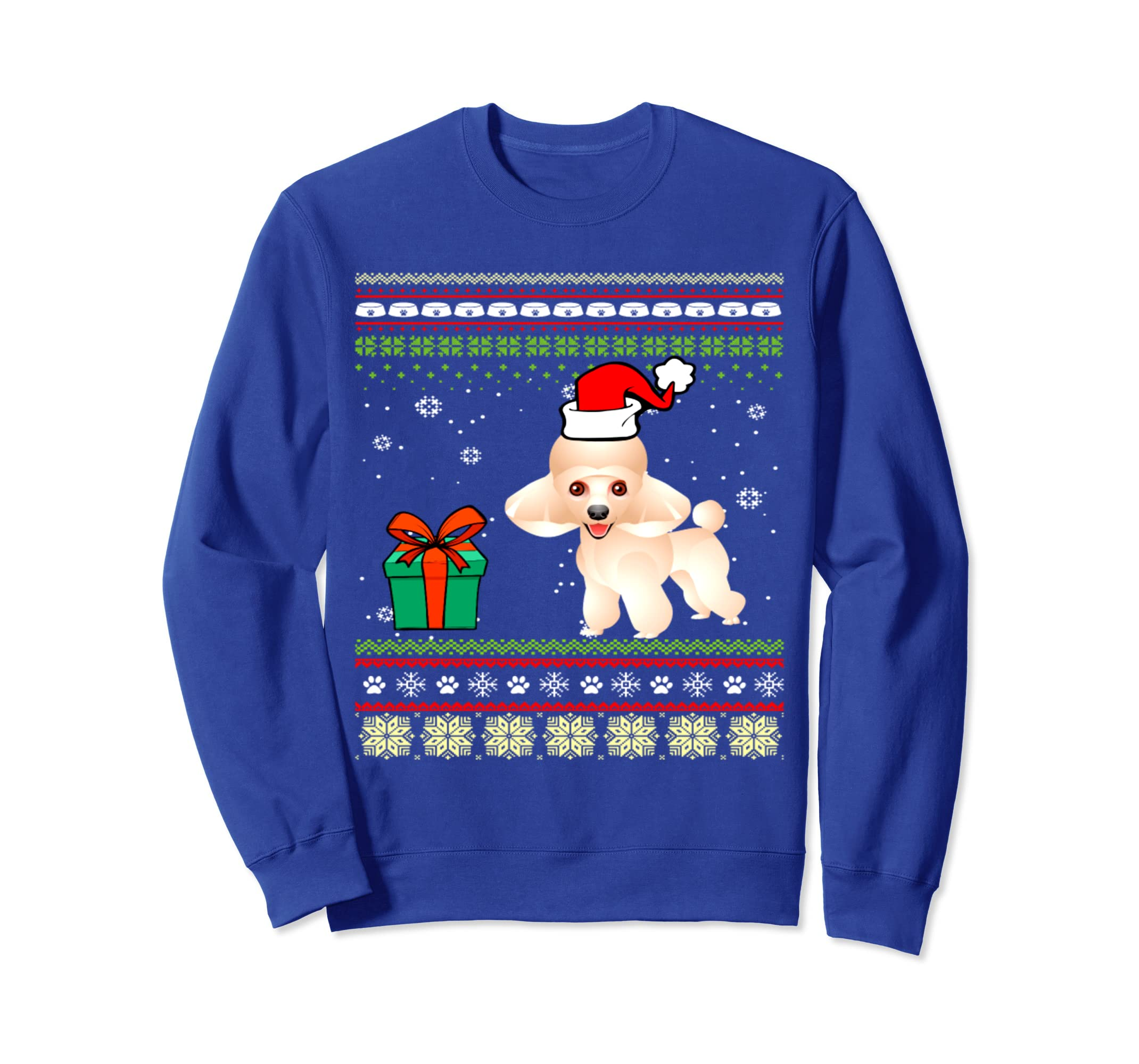 Ugly Christmas Sweater Poodle Dog T Shirt-azvn