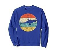 Tyrannosaurus Rex T Rex Retro Style Dinosaur Shirts Sweatshirt Royal Blue