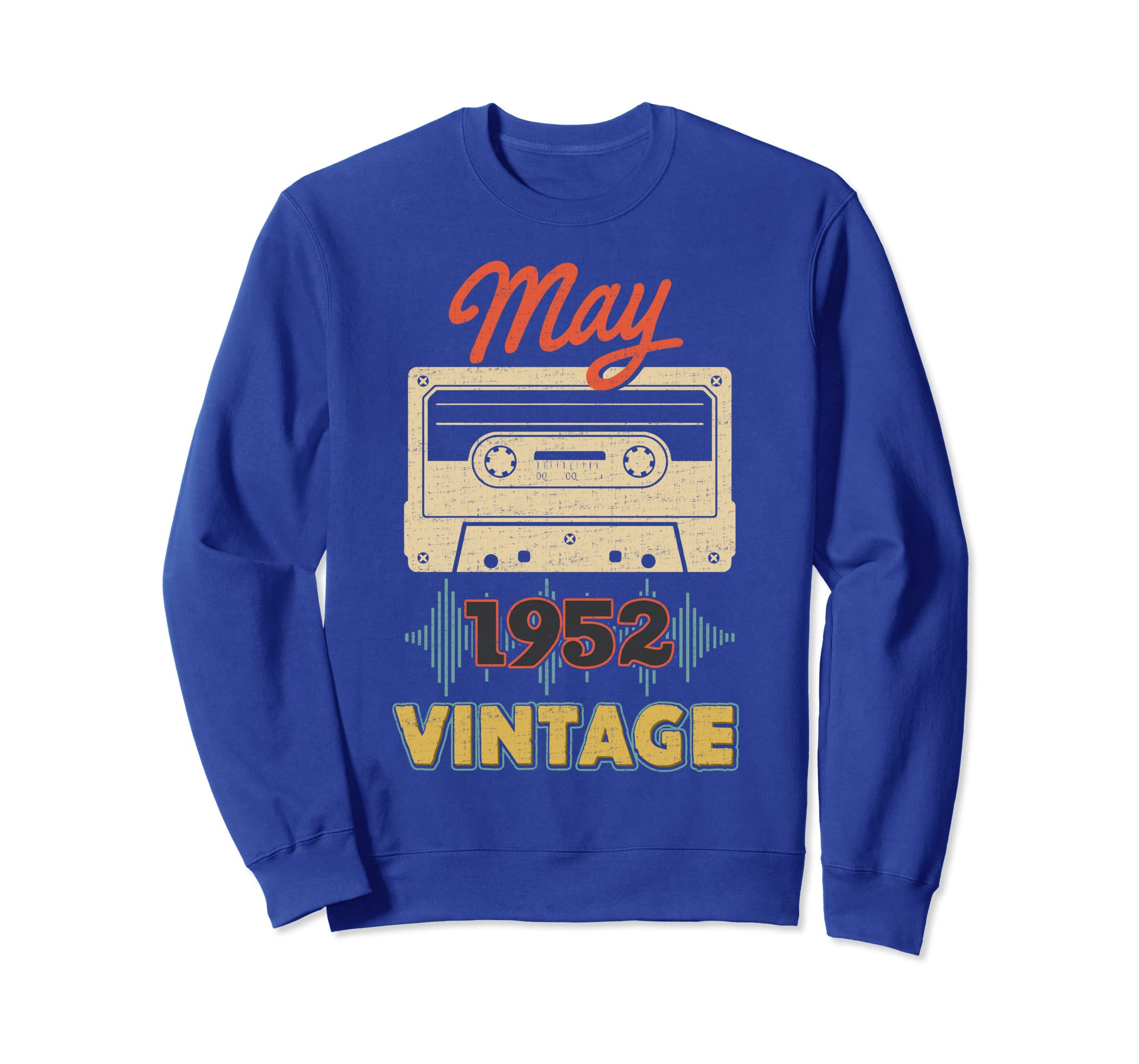 Vintage-May 1952 Classic Retro-Mixtape Sweatshirt-azvn
