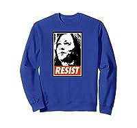 Kamala Resist Shirts Sweatshirt Royal Blue
