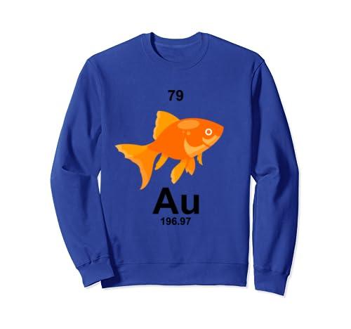Funny Chemistry Periodic Table Element Au Goldfish Sweatshirt