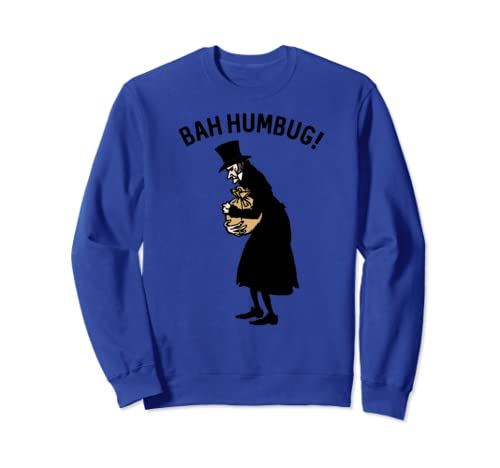 Retro Scrooge Christmas Shirt Art-Bah Humbug Anti-Christmas Sweatshirt
