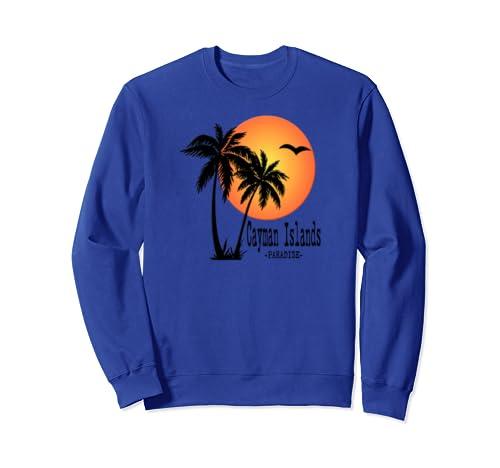 Cayman Islands Souvenir Gift Sun Palm Trees Sunset Sweatshirt