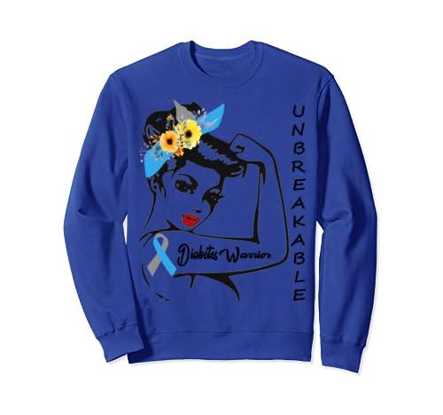 Diabetes Warrior Awareness Diabetic Support Gift Walk Tshirt Sweatshirt