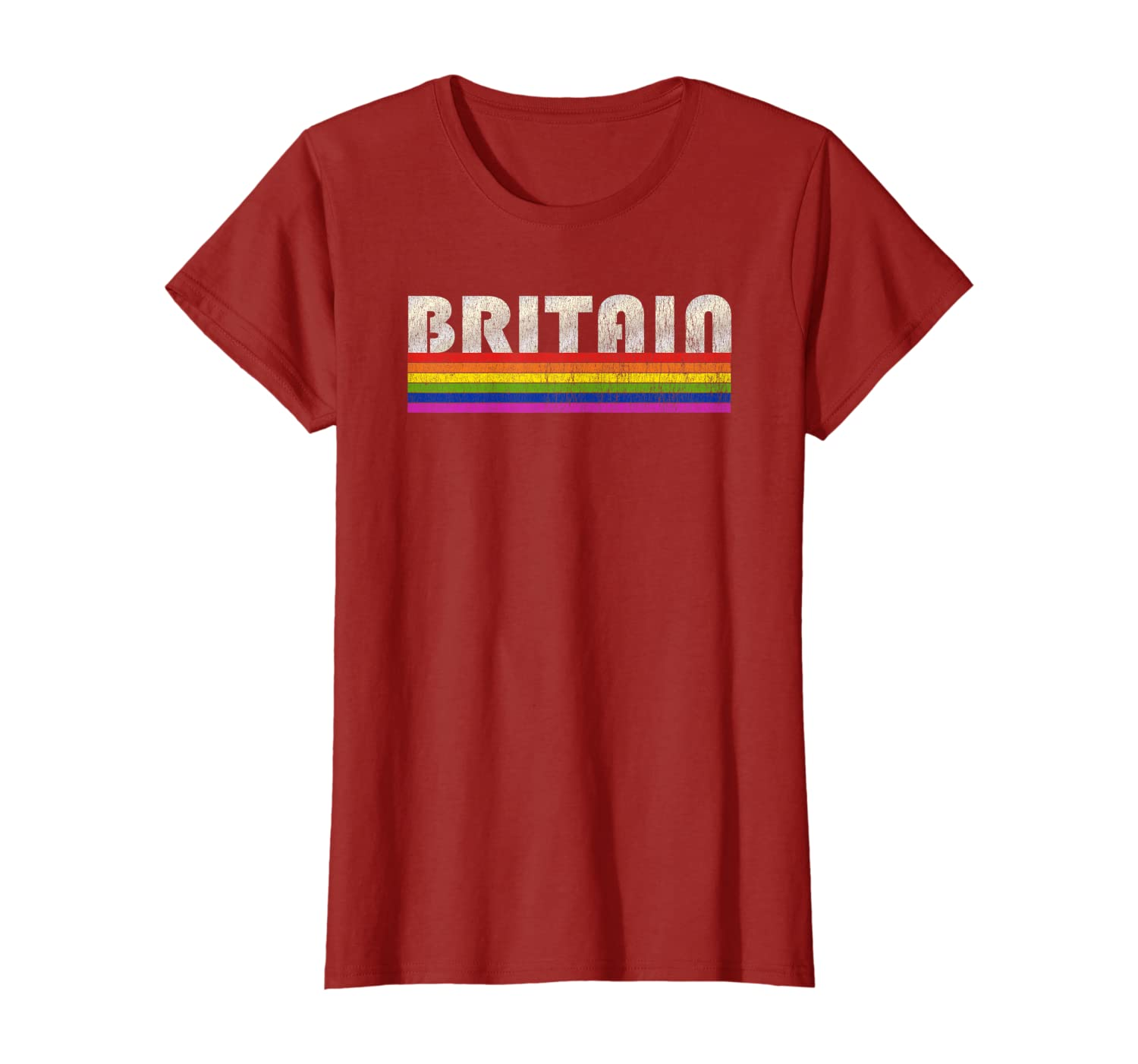 Vintage 80's Style Britain Gay Pride Month T-Shirt-Yolotee