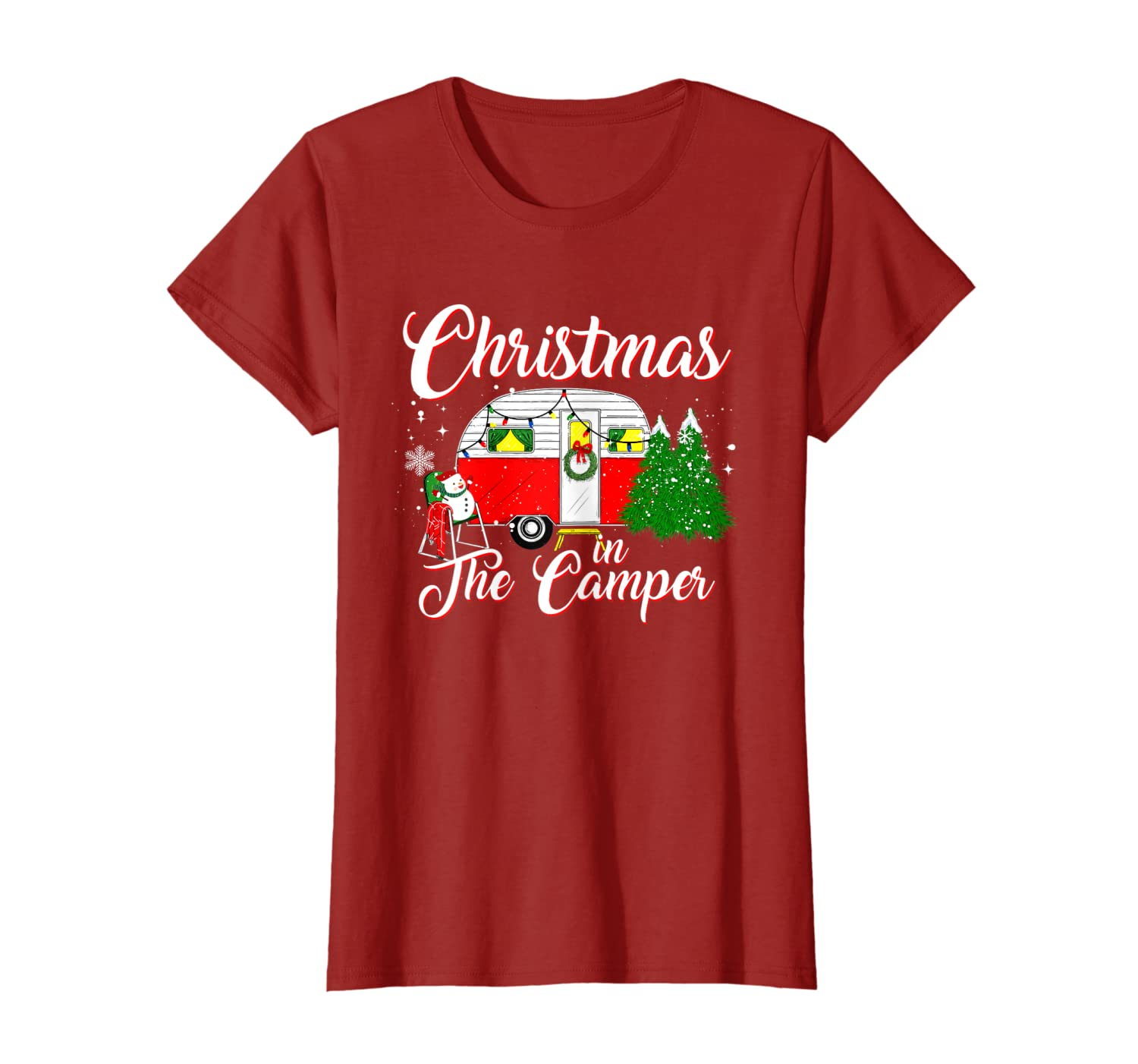 Christmas In The Camper Family Funny Cute Camping Christmas T-Shirt