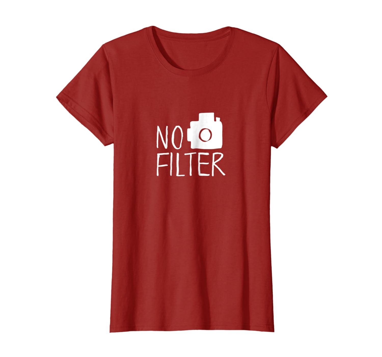 Amazon com: Womens GENYOLO No Filter T-Shirt  Soft Grunge