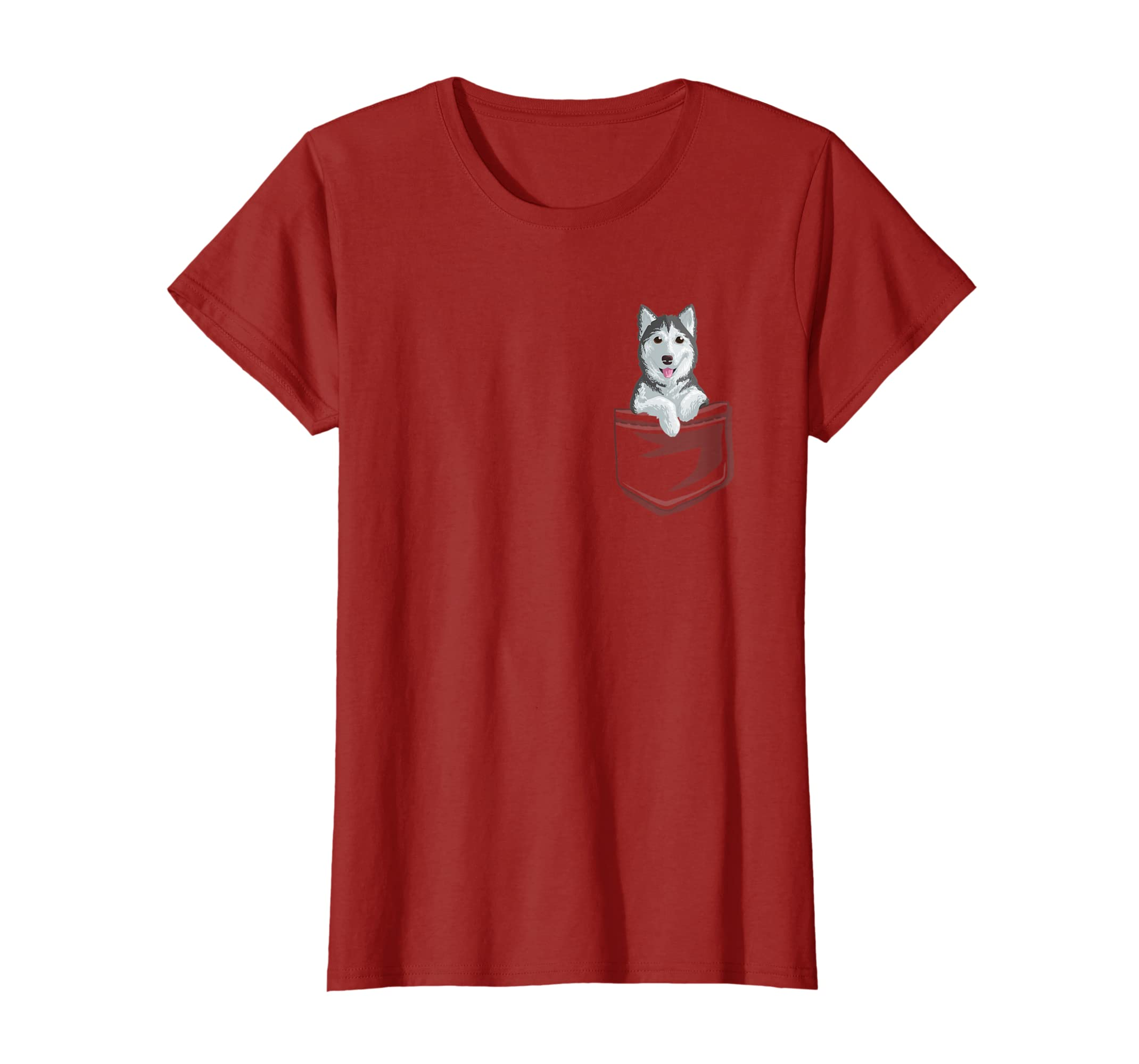 40408072 Amazon.com: Cute Siberian Husky In your Pocket T-Shirt Puppy Gift Shirt:  Clothing