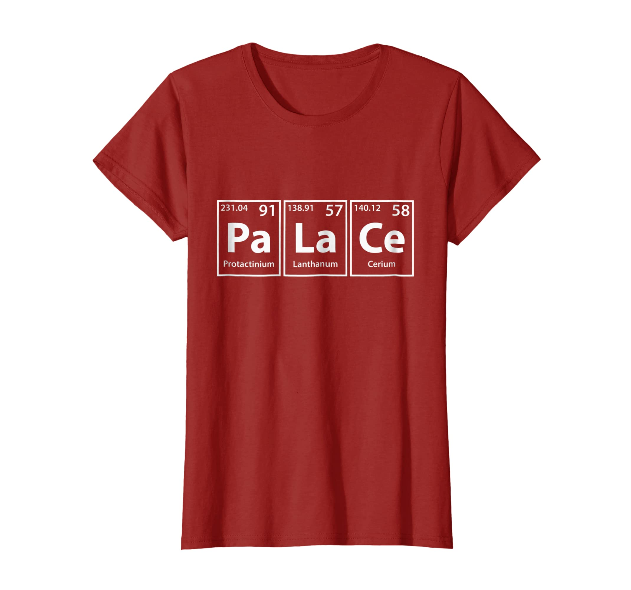 Excellent Amazon Com Palace Pa La Ce Periodic Table Elements Shirt Download Free Architecture Designs Intelgarnamadebymaigaardcom
