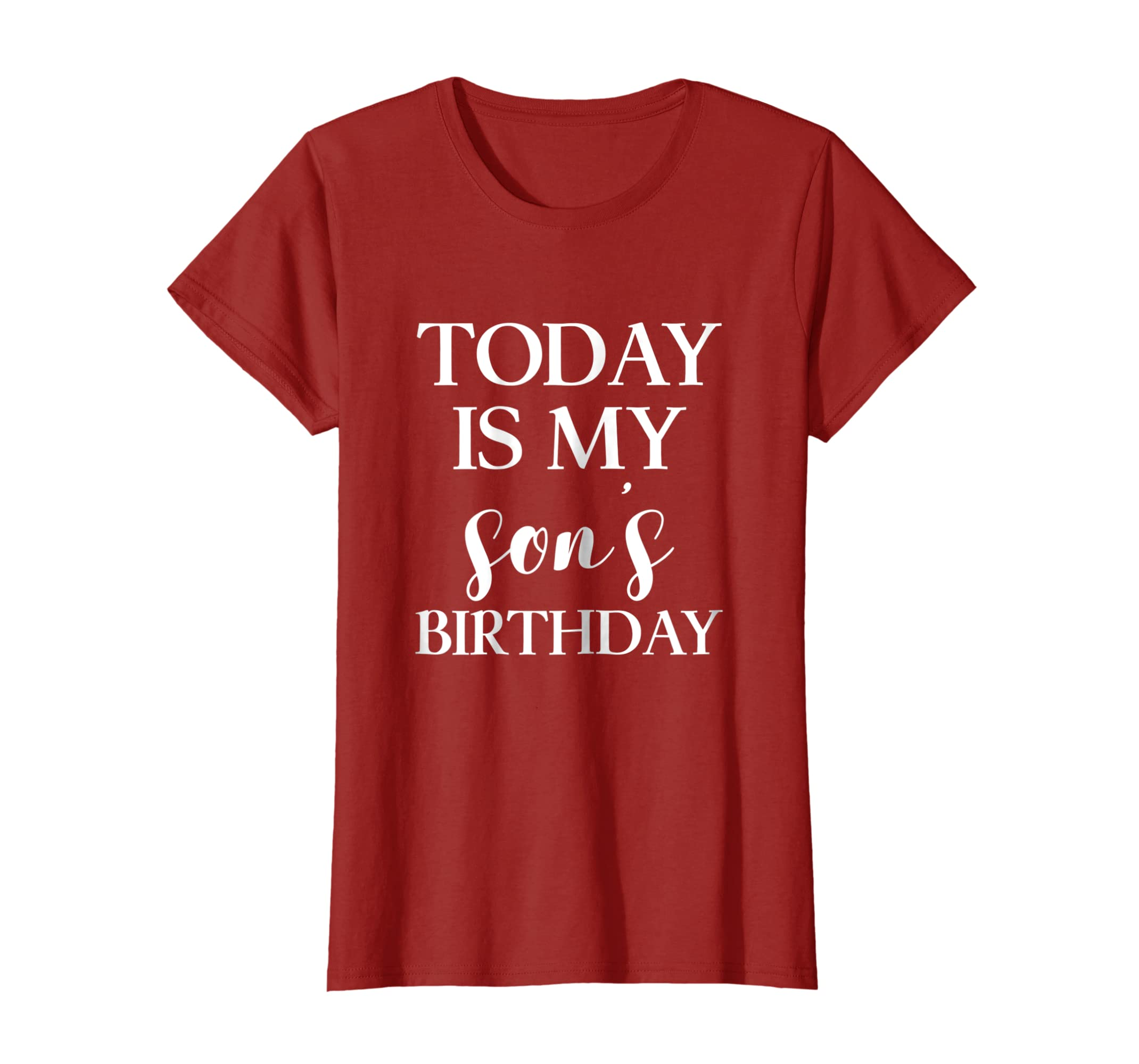 Amazon Today Is My Sons Birthday Party T Shirt For Parents Mom Dad Clothing