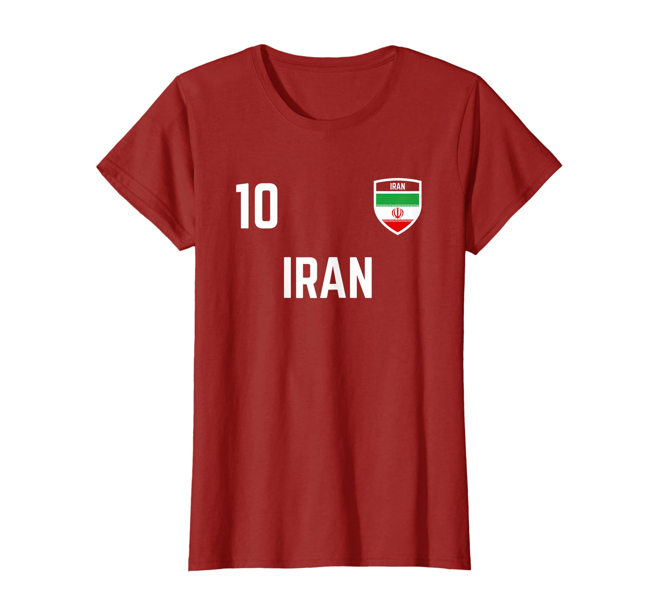 4928c9657b5 Amazon.com  Iran Soccer Jersey 2019 Flag Iranian Football Team Fan Shirt   Clothing