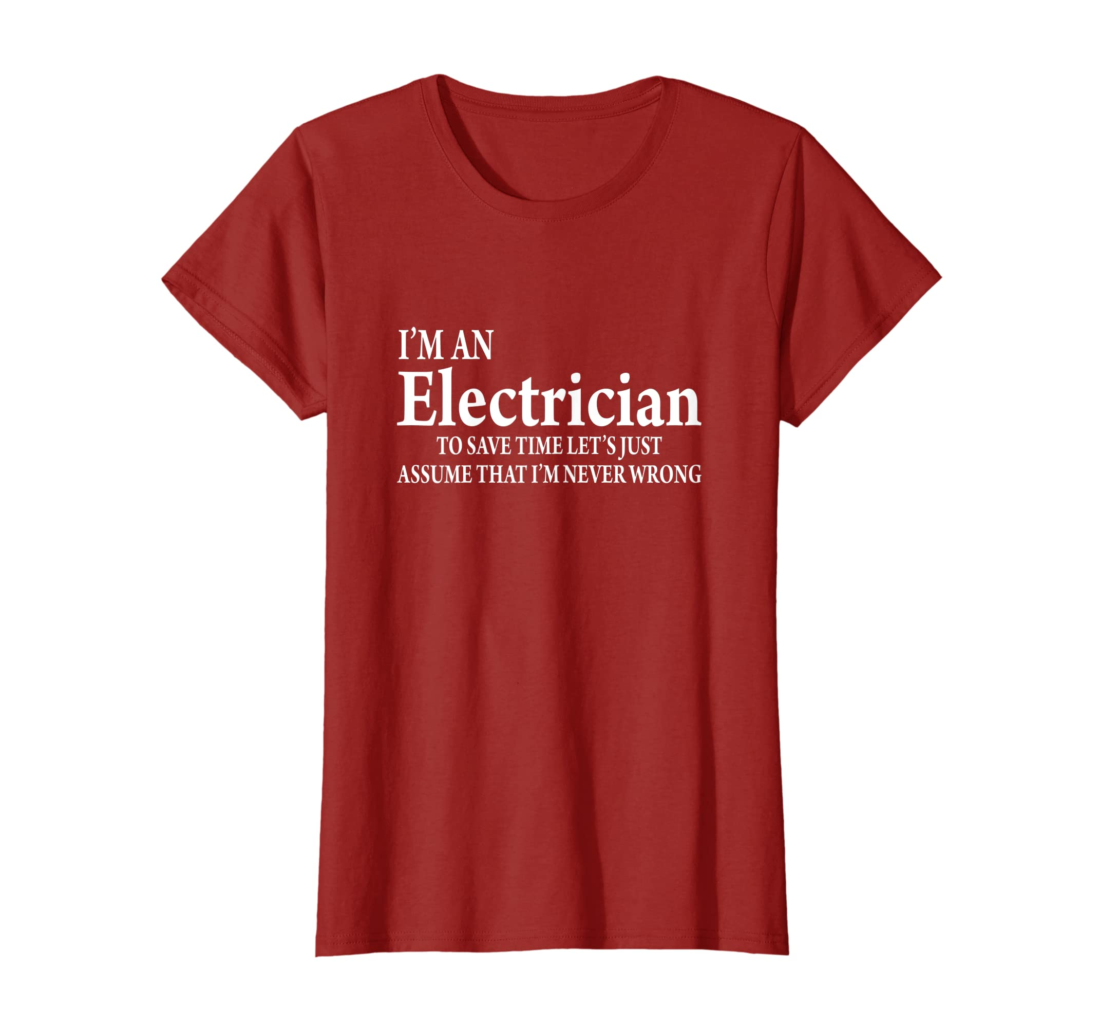 ed96fac2b51 Amazon.com  Funny Electrician Quotes T-Shirt