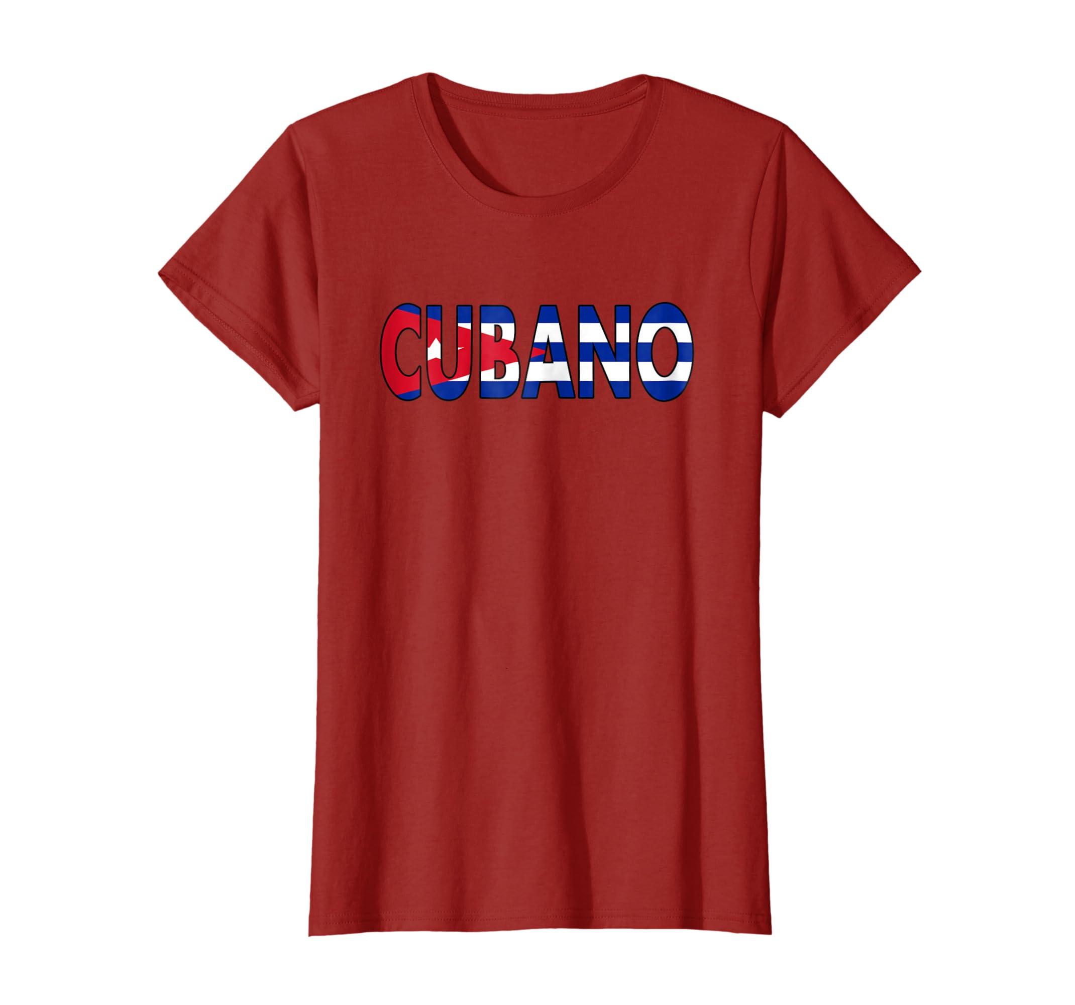 Amazon.com: Camiseta Con Bandera Cubana Cubano Shirt With The Cuban Flag: Clothing
