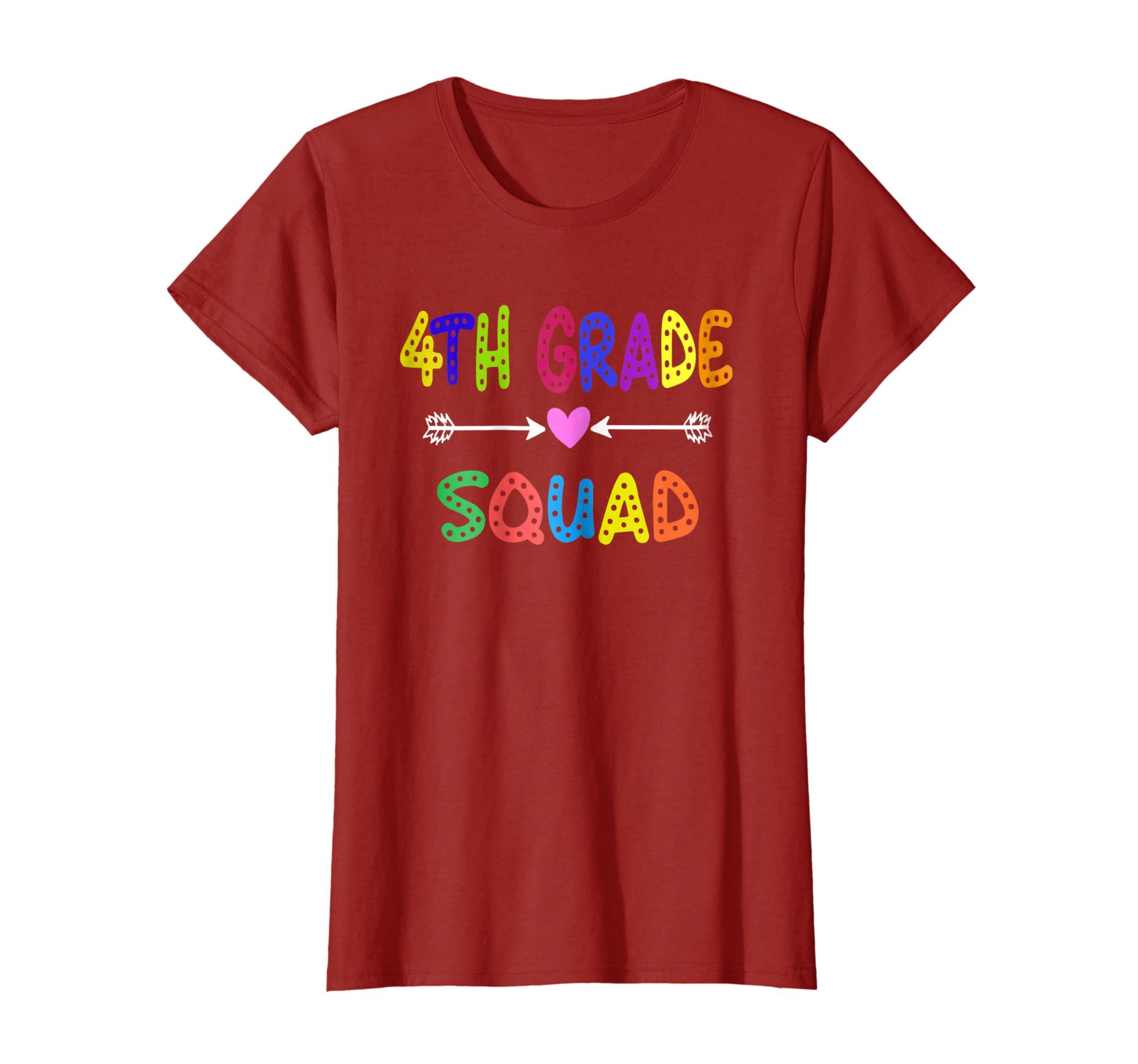 4th Grade Squad Back To School Student Teacher Parent Shirt-Awarplus