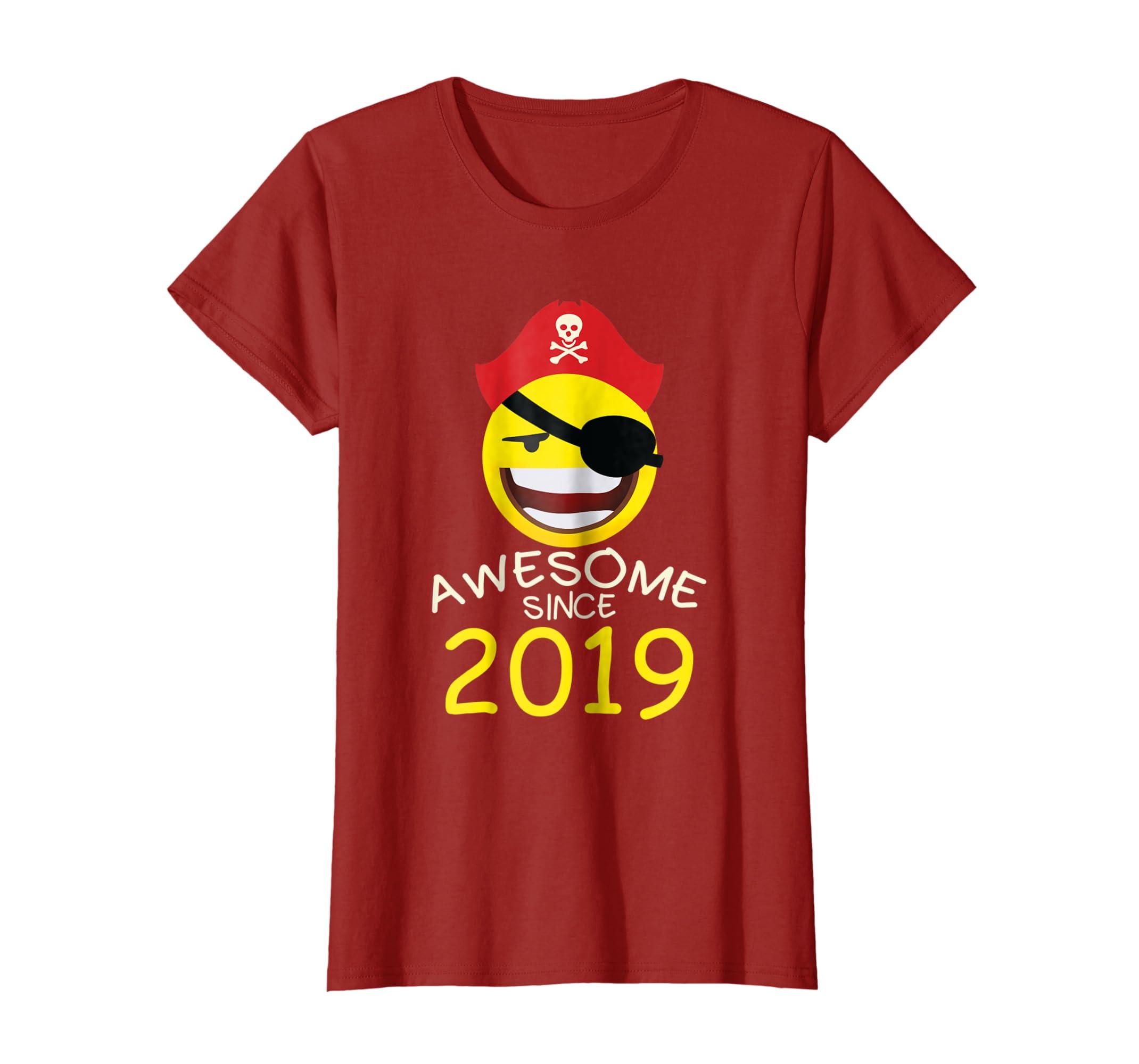 Amazon 1st Birthday Years Old Funny 2019 Pirate Emoji t shirts