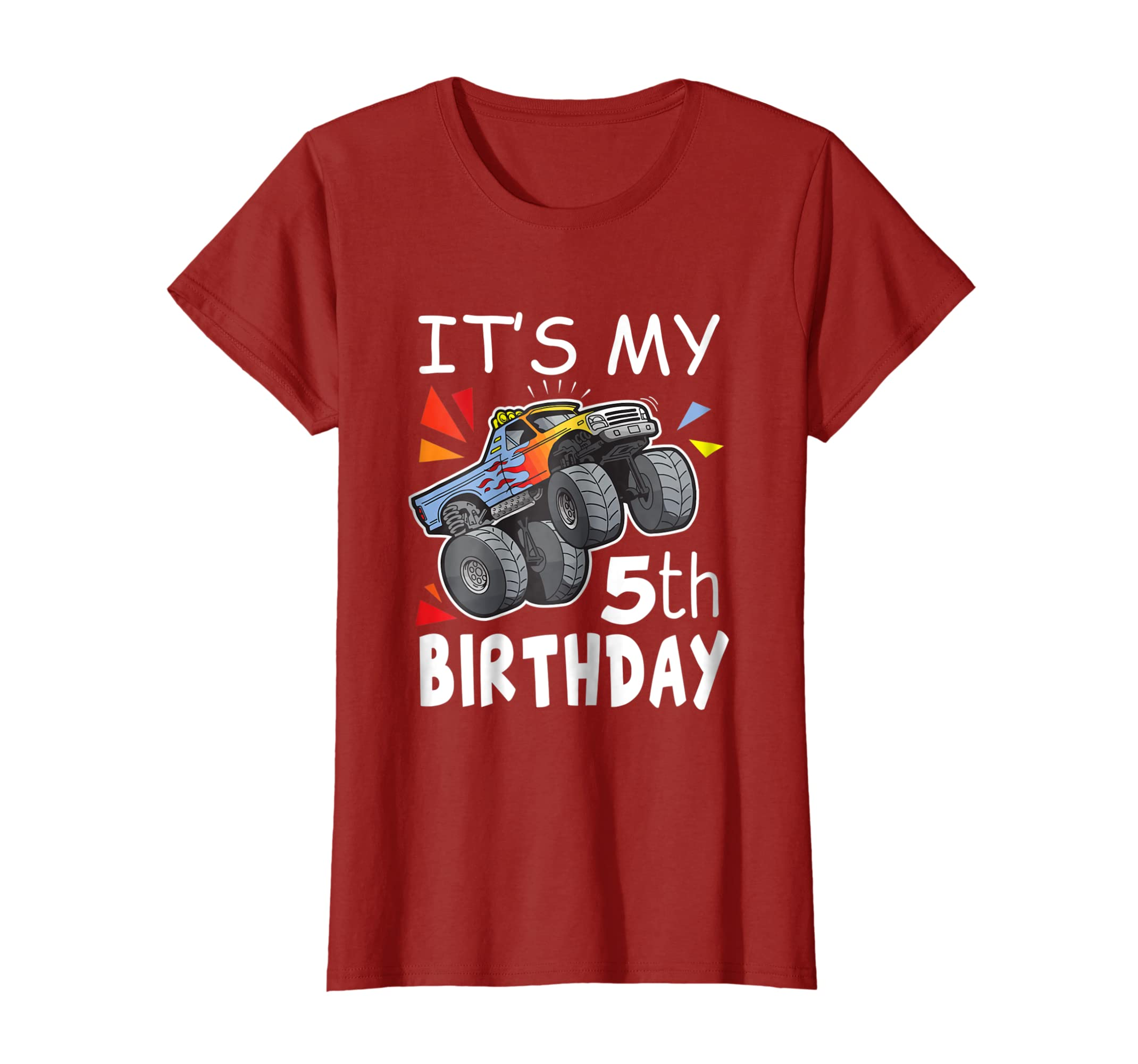 Amazon Its My 5th Birthday Boy Monster Truck Shirt 5 Year Old Tee Clothing