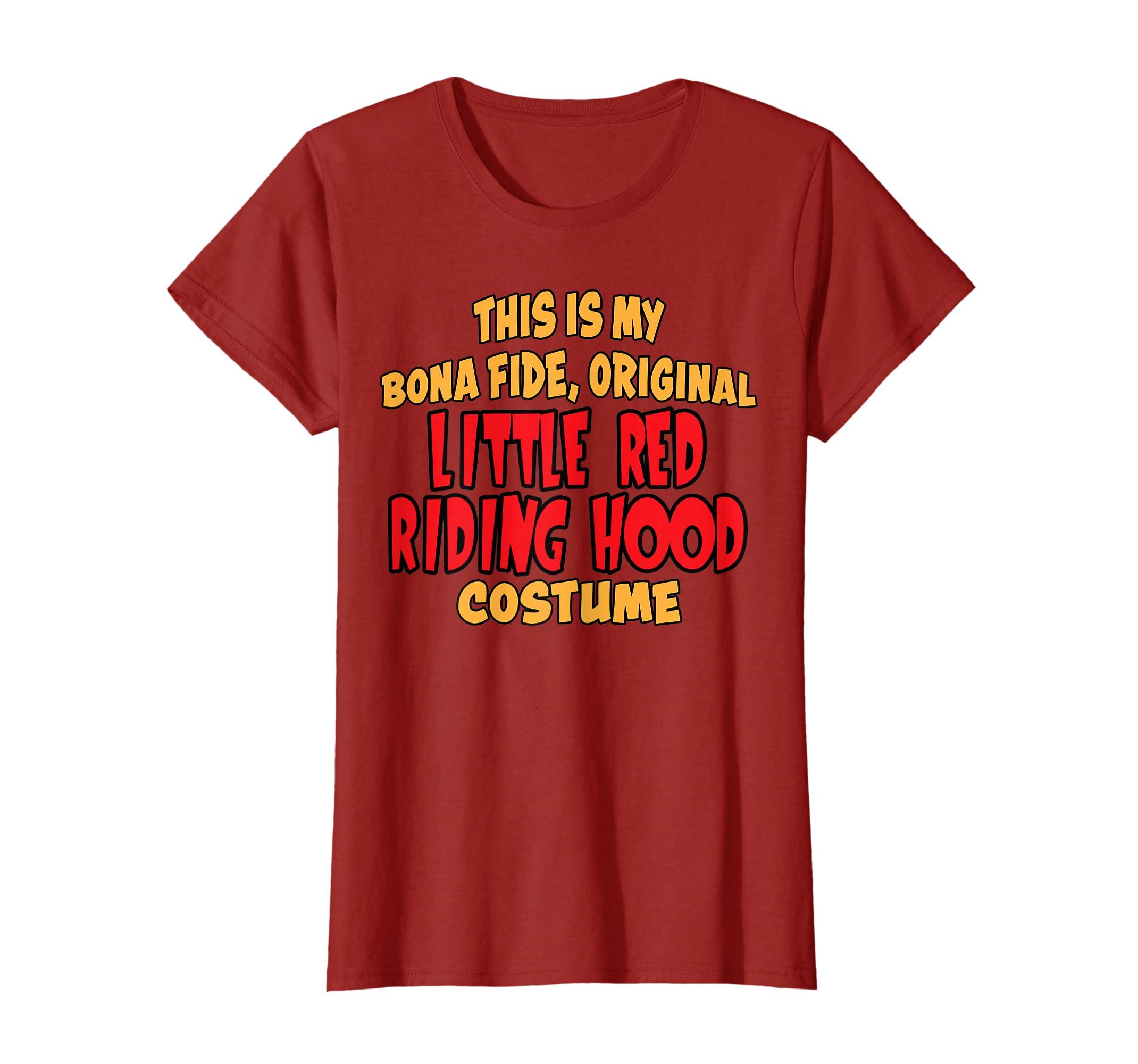 ec6a3eea Amazon.com: Bona Fide Original Little Red Riding Hood Costume T-shirt:  Clothing