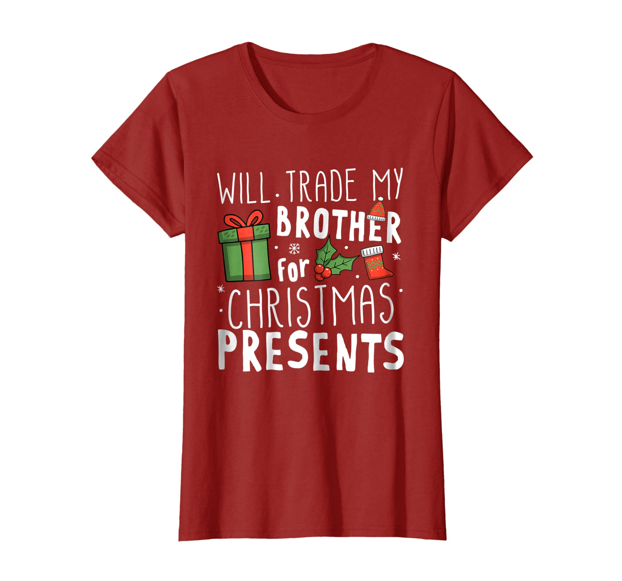 amazoncom will trade my brother for christmas presents t shirt clothing