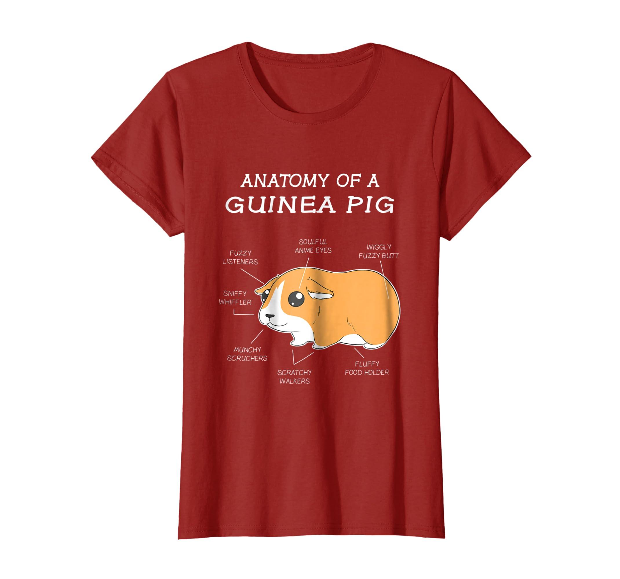 Amazon.com: Anatomy Of A Guinea Pig Funny Chubby Pet T Shirt: Clothing