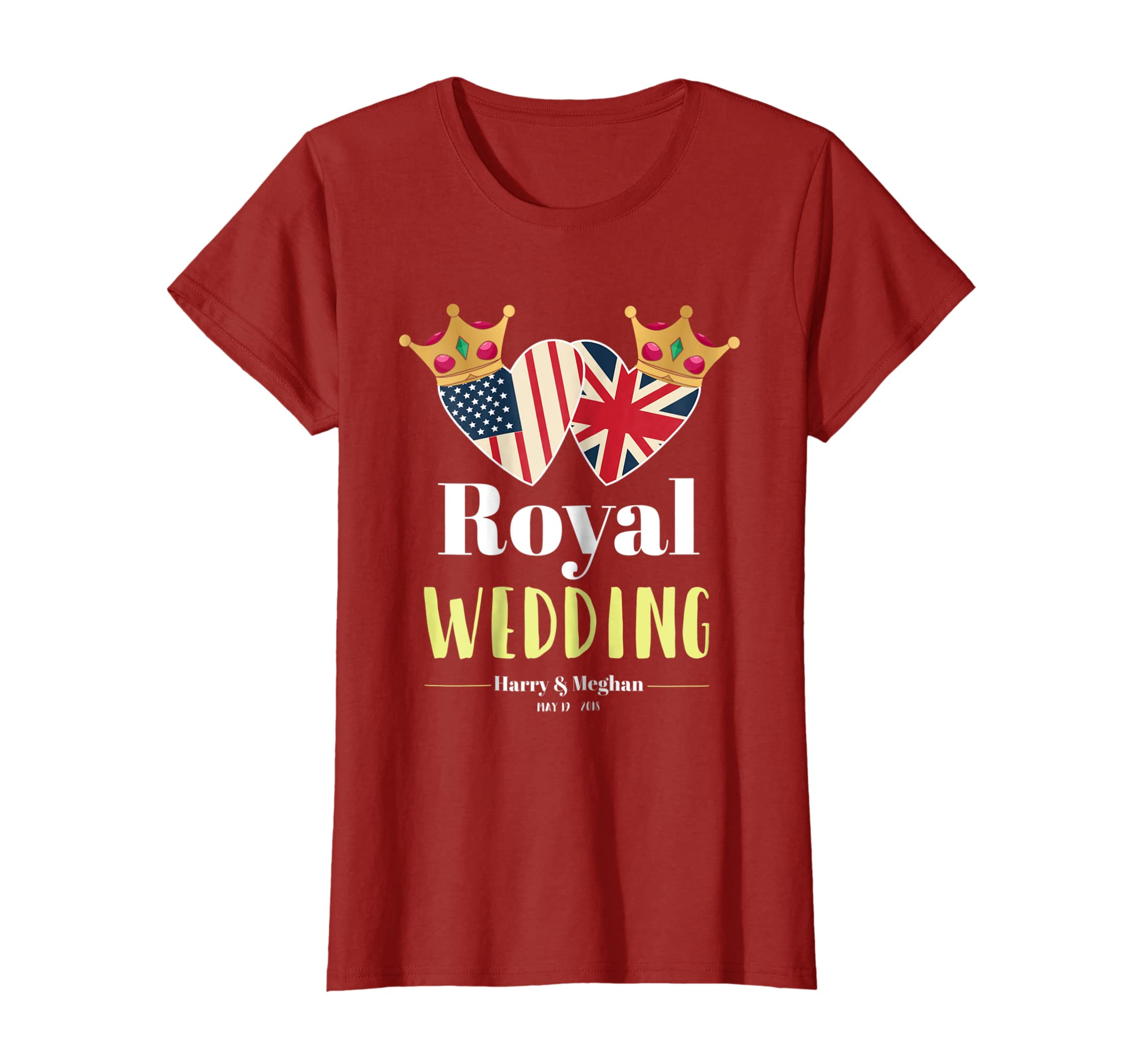 UK & USA Flag Heart Pride Harry & Meghan Royal Wedding Shirt-Newstyleth