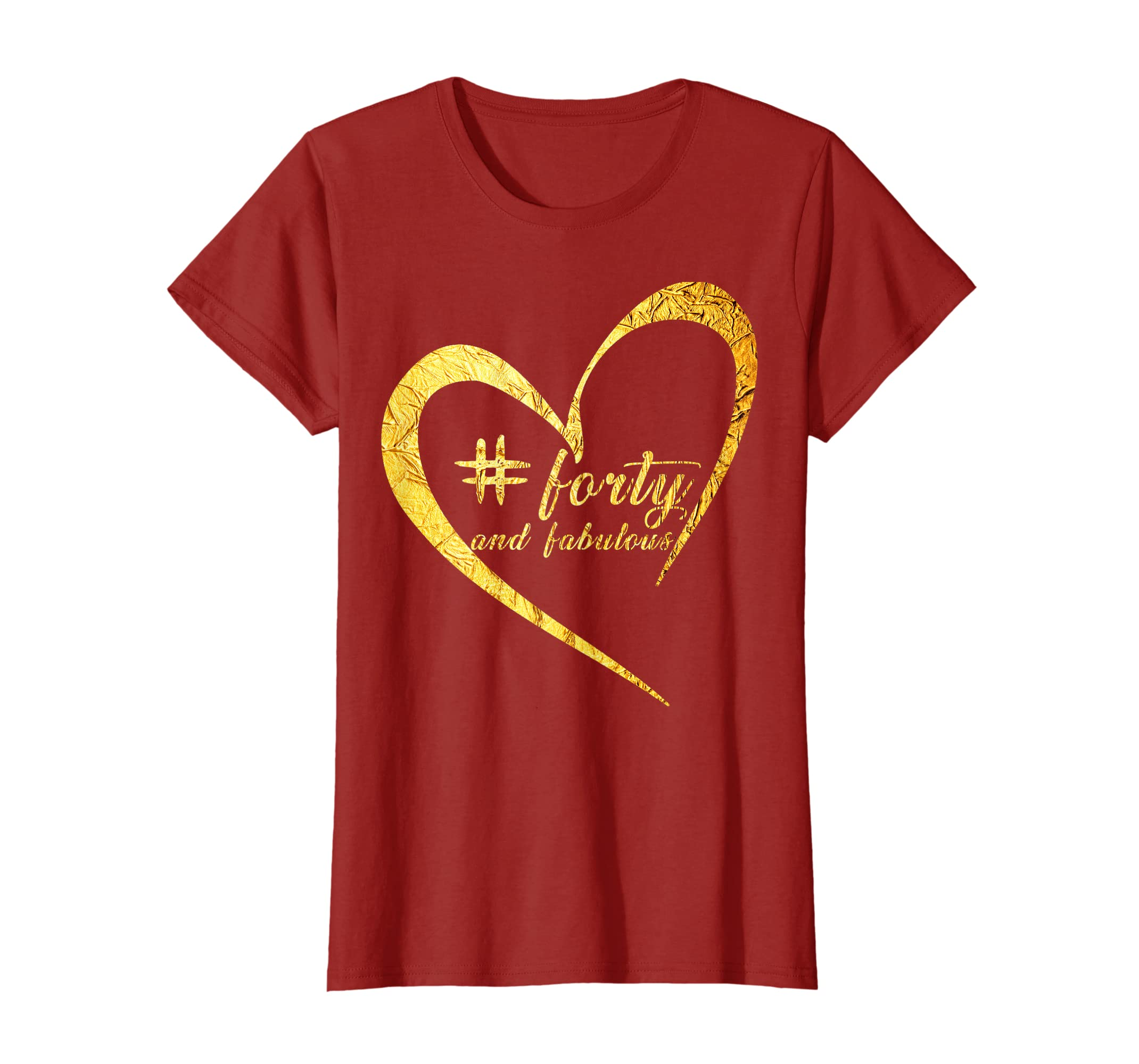 12392dcc Amazon.com: Womens 40th Birthday T-Shirt - Forty And Fabulous: Clothing