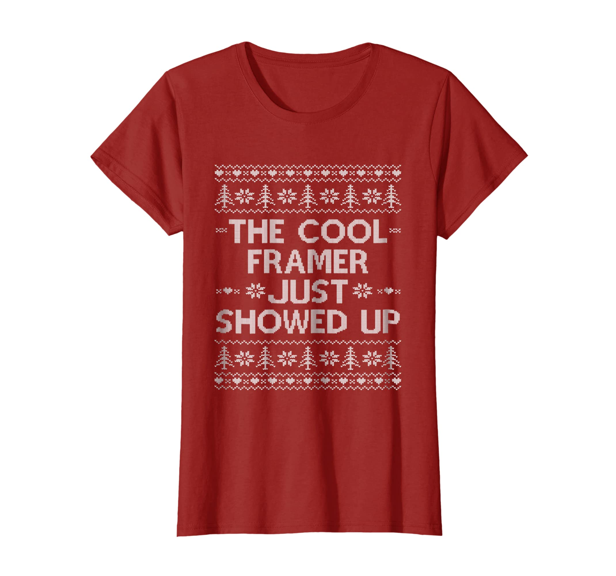 529033e83d Amazon.com: Ugly Christmas Framer T-shirt Funny Construction Worker Gift:  Clothing