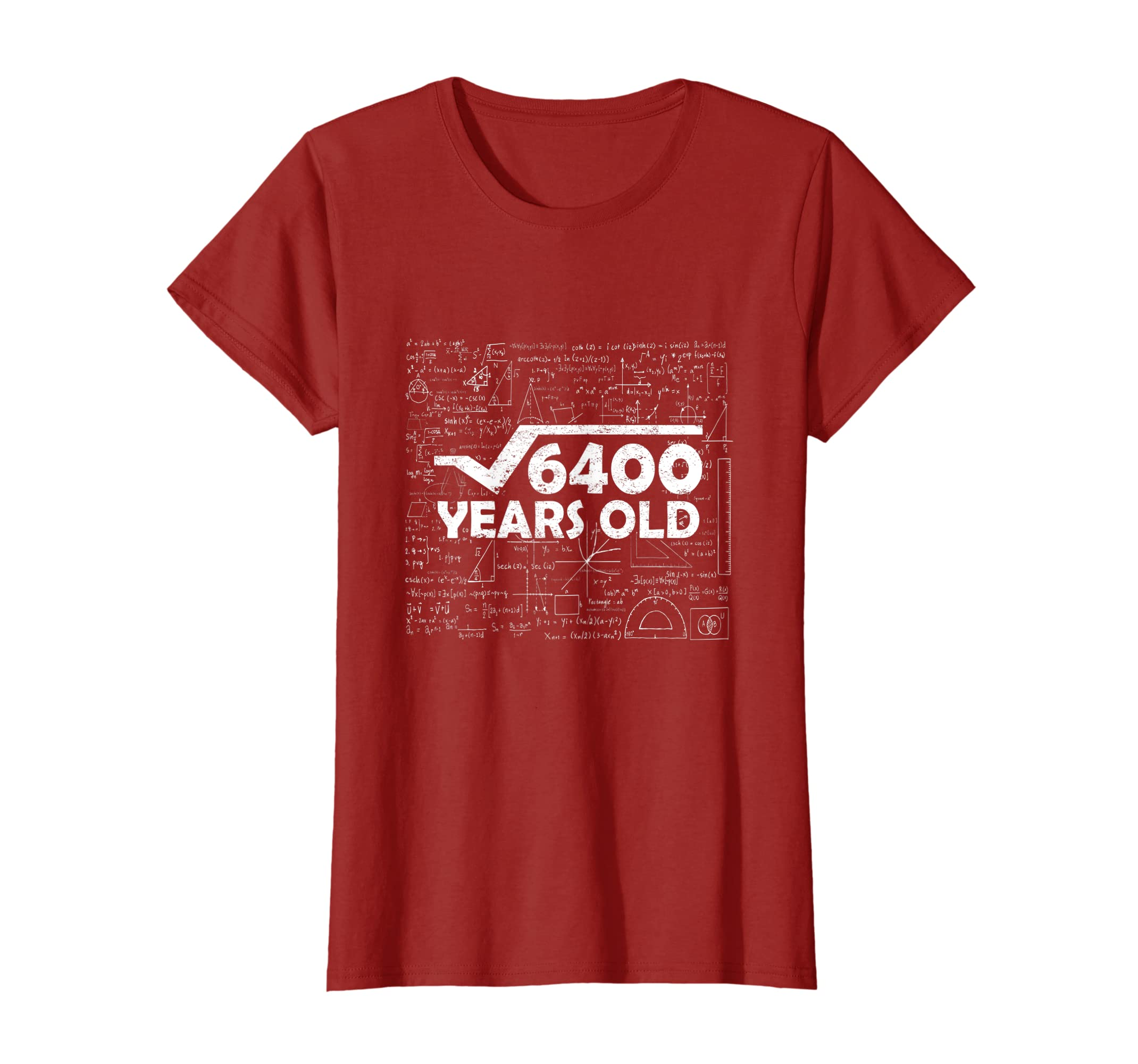 Amazon Square Root Of 6400 80th Birthday Gift 80 Years Old T Shirt Clothing