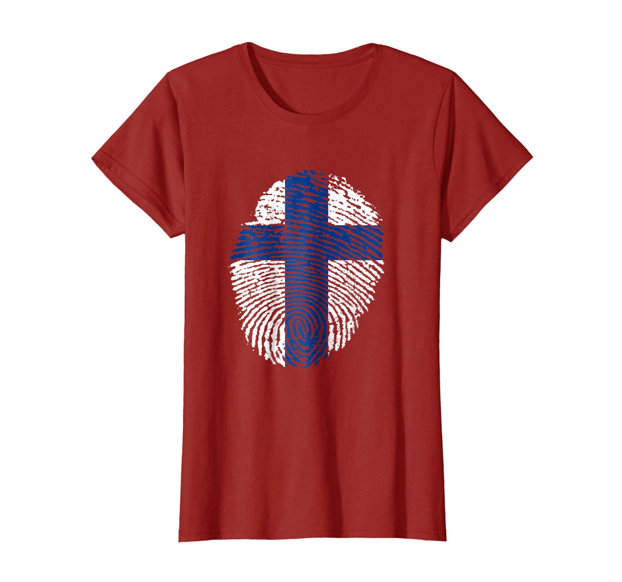 Christian T shirts Hallelujah Fingerprint Cross shirt