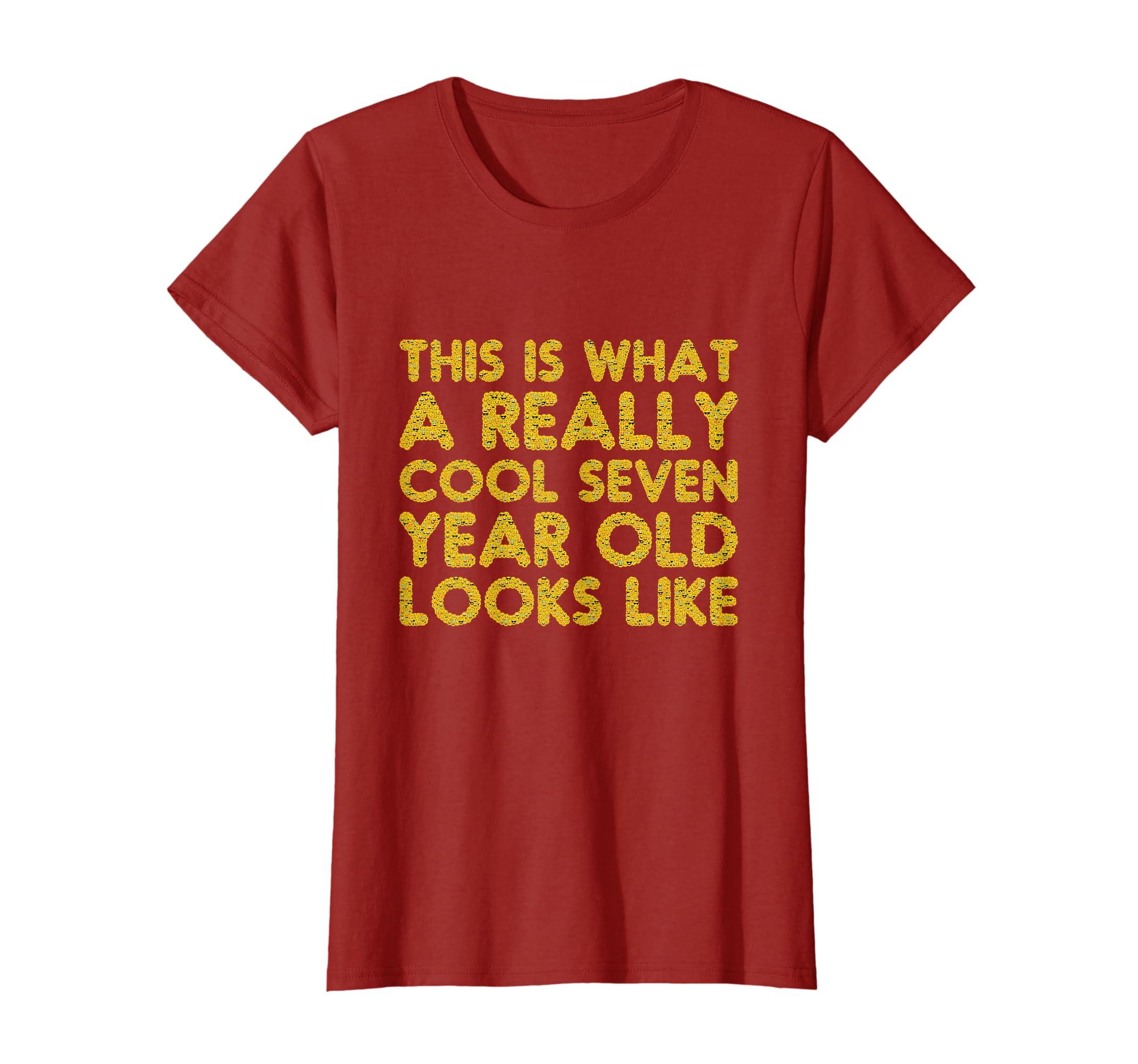 Amazon 7th Birthday Shirt Gift Boy Girl Age Seven 7 Year Old Son Clothing