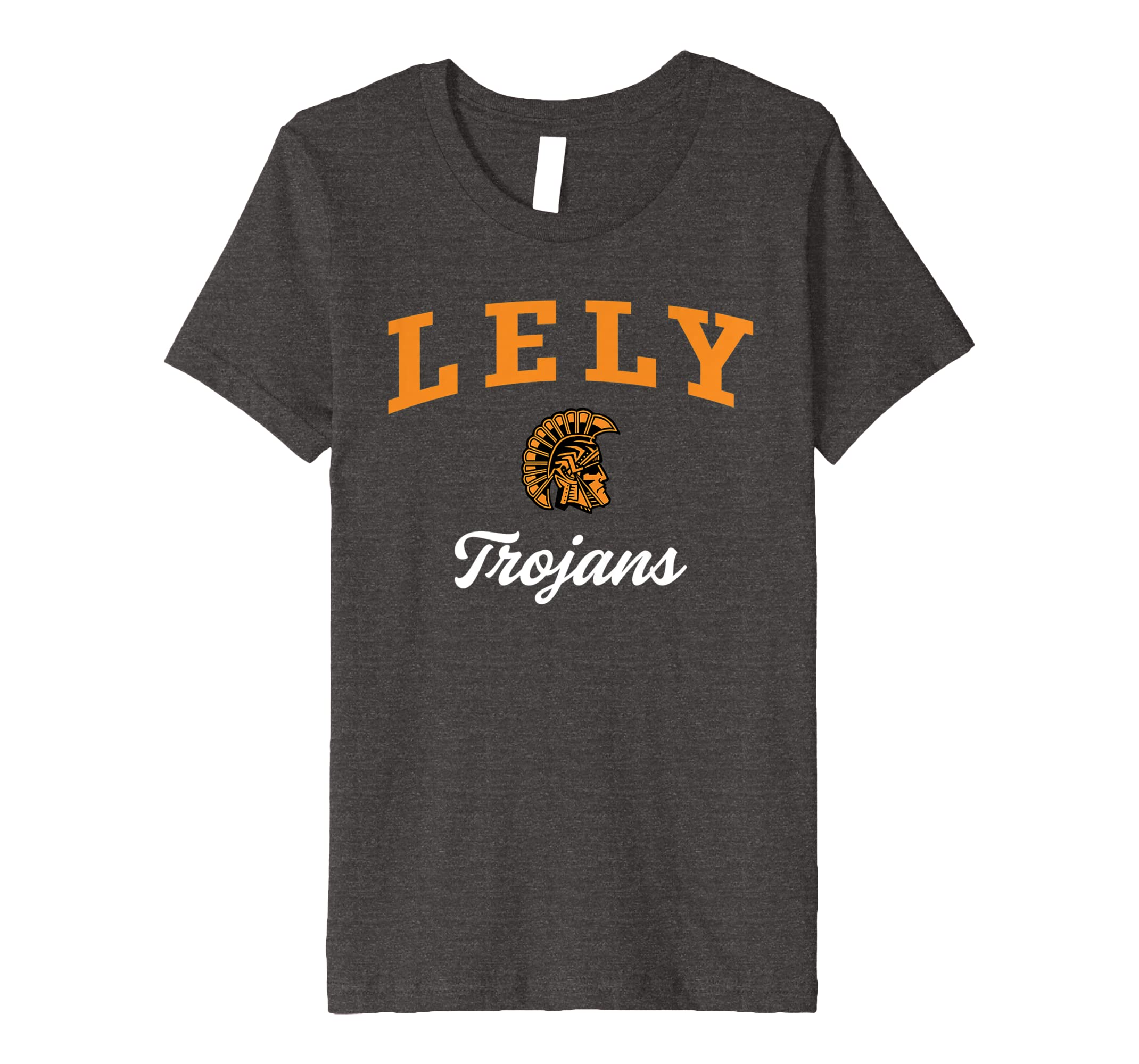 Amazon com: Lely High School Trojans Premium T-Shirt C3