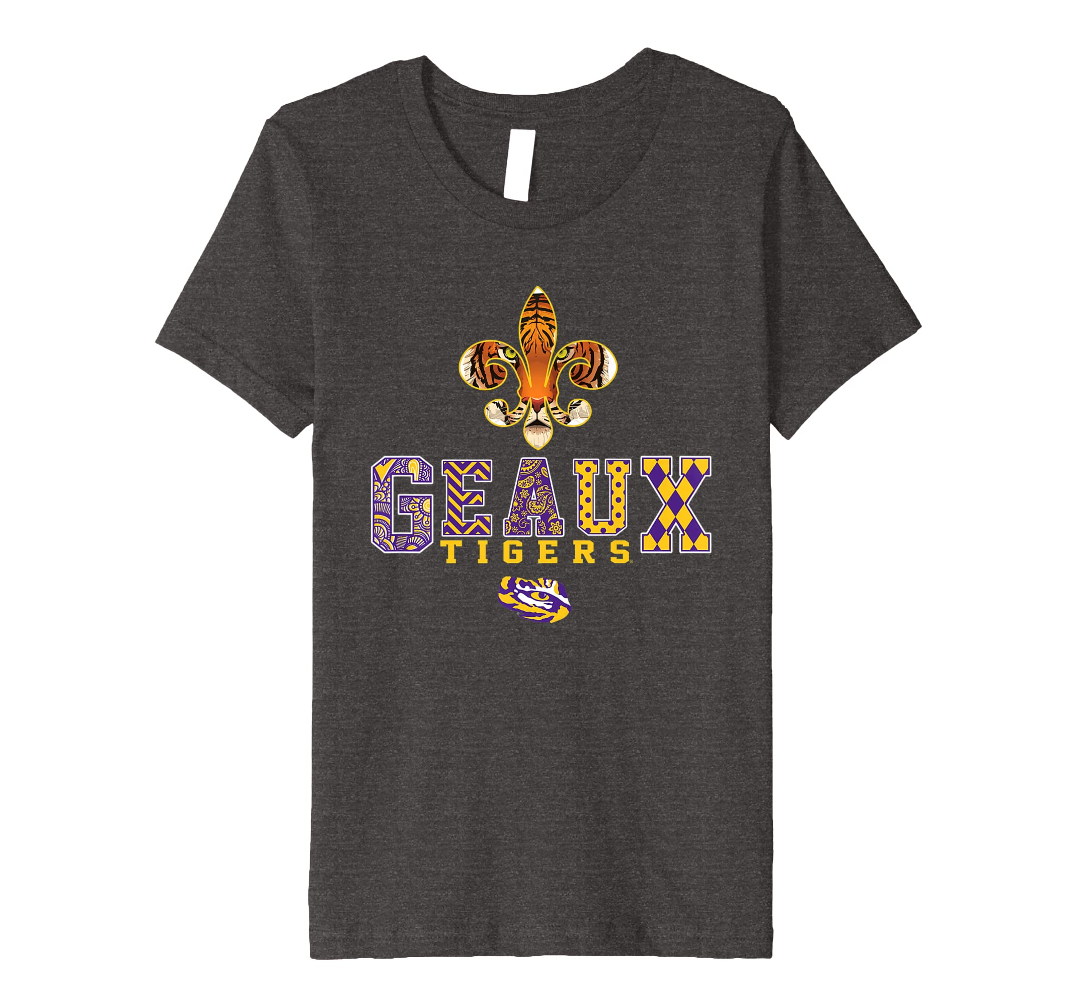 de8a7980 Amazon.com: LSU Tigers Saint - Team Slogan Pattern T-Shirt - Apparel ...
