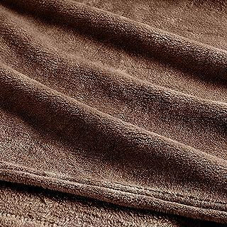 Clara Clark Micro Polar-Fleece Blanket - Ultra Cozy Warm Bed Blanket, Brown, Queen