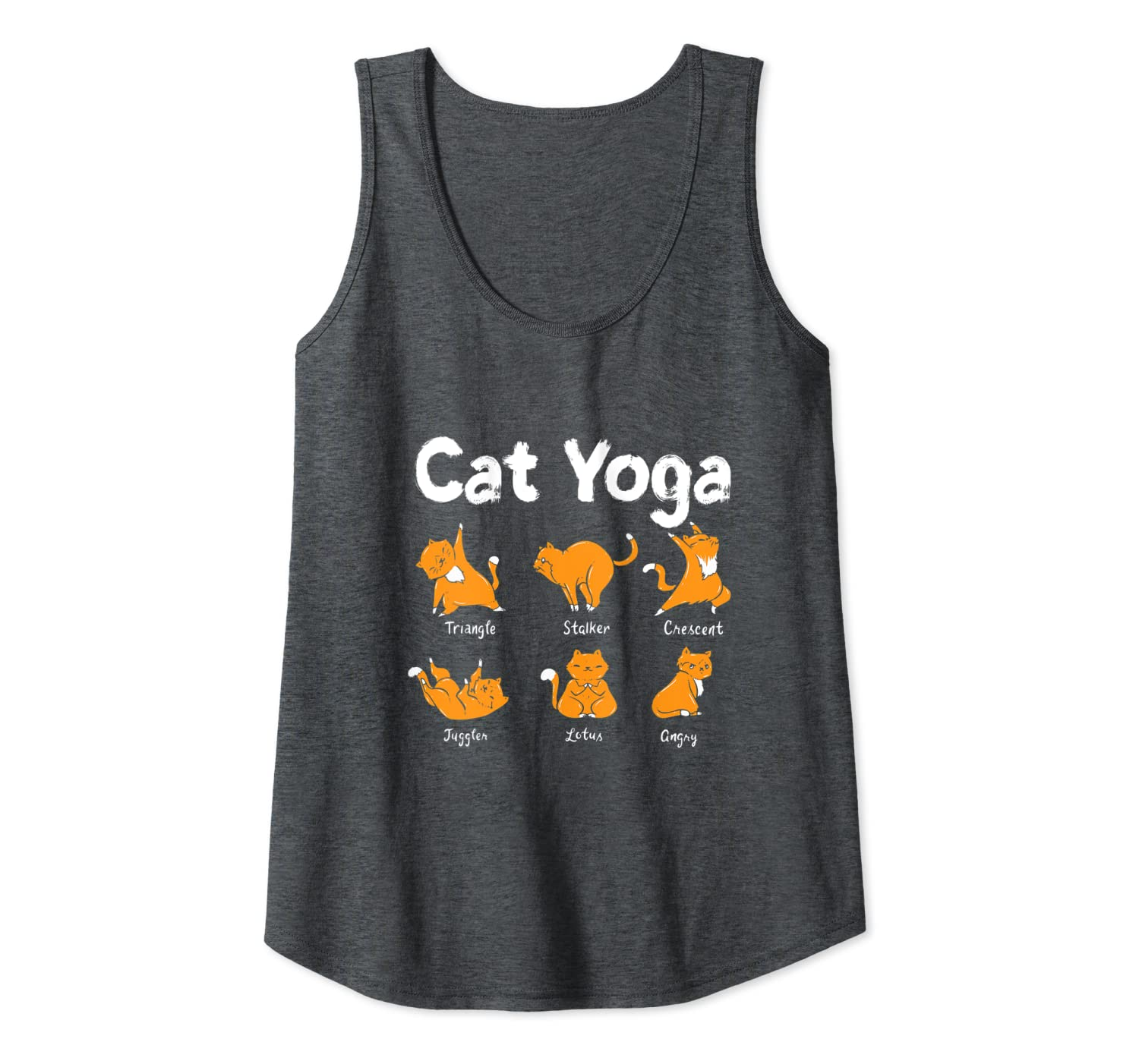 Amazon Com Cats Doing Funny Yoga Poses Funny Meditation Gym Gift Tank Top Clothing