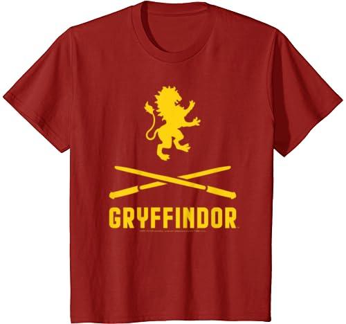 Kids Harry Potter Gryffindor Crossed Wands Logo T Shirt