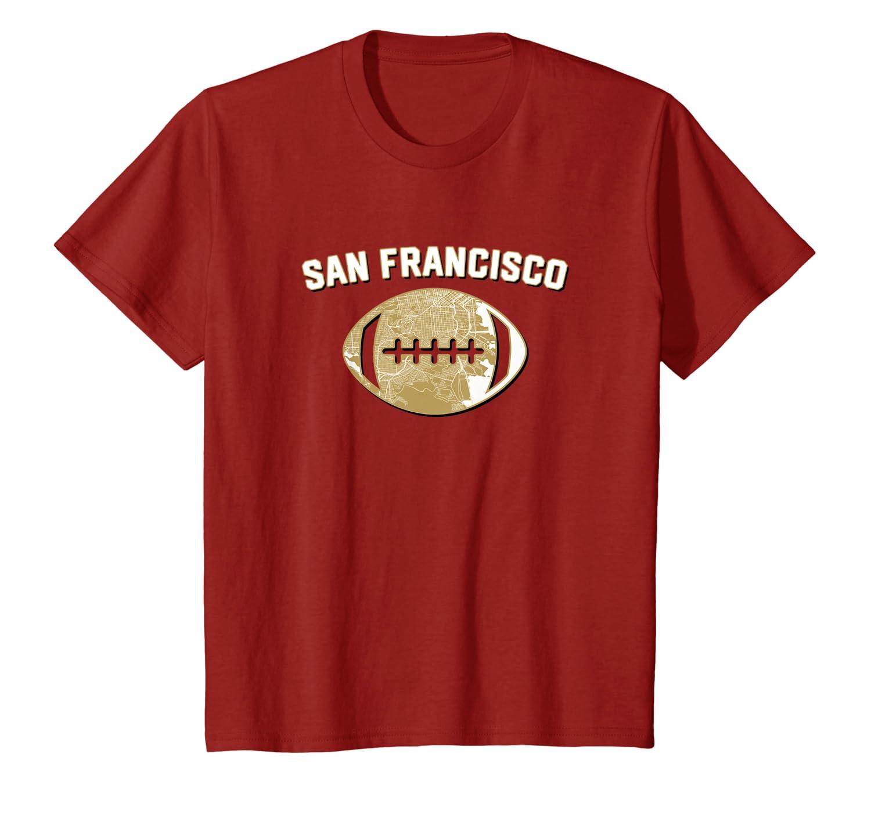San Francisco Football City Home Map T-Shirt